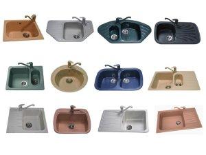 Разные формы кухонных моек для кухни