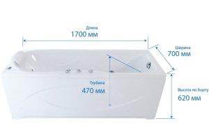 Чтобы выбрать  удобную ванну, нужно обратить внимание на ее габариты и наклон спинки