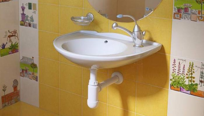Классический навесной умывальник для ванной комнаты