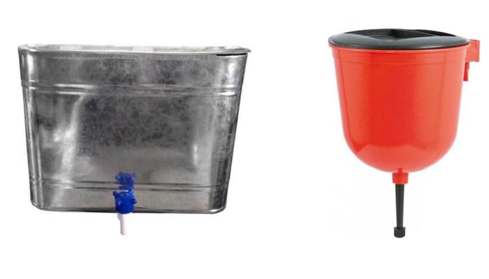 Металлический рукомойник для дачи практичнее пластикового