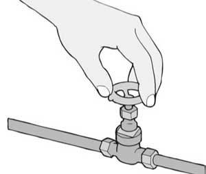 Первым делом при установке смесителя в ванную нужно перекрыть воду