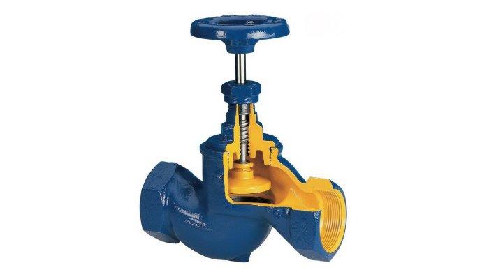 Схема устройства запорного клапана для смесителя