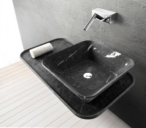 Выбирать цвет умывальника в ванную комнату стоит с учетом общего дизайна помещения