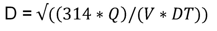 Формула расчета внутреннего диаметра стальных бесшовных горячекатанных труб