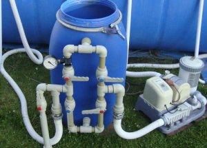 Как подключить фильтр для воду к бассейну?