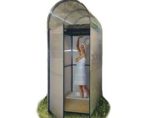 Летний душ для дачи из поликарбоната с поддоном