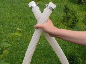 Подключение поверхностного насоса к бассейну шлангами