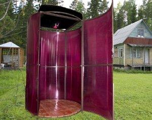 Садовый душ из поликарбоната круглой формы