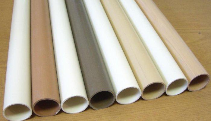 Трубы ПВХ для водопровода, выполненные в разных цветах