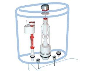 Устройство арматуры для сливного бачка унитаза с нижней подводкой