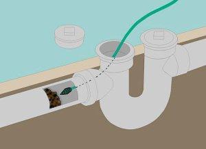 Использование сантехнческого троса для чистки канализационных труб