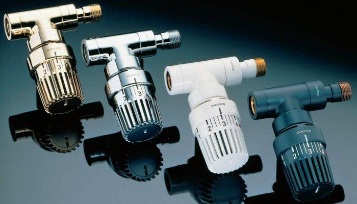 Краны для отопительных радиаторов с термоголовками