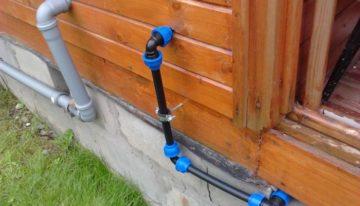 Монтаж водопровода на даче из труб ПНД своими силами