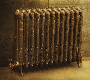 Можно приобрести радиатор с ножками, который легче установить