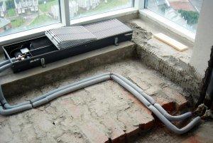 Особенности монтажа внутрипольных конвекторов водяного отопления