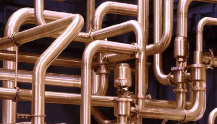 Водопровод из медных труб