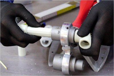 Инструкция по спайке полипропиленовых труб полидиффузным способом