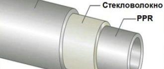Конструкция полипропиленовых труб, армированных стекловолокном