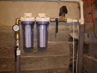 Образец фильтра грубой очистки воды для дачи