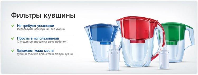 Особенности кувшинных фильтров для очистки воды