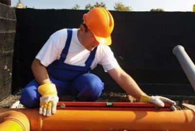 Расчет уклона трубы для наружной канализации