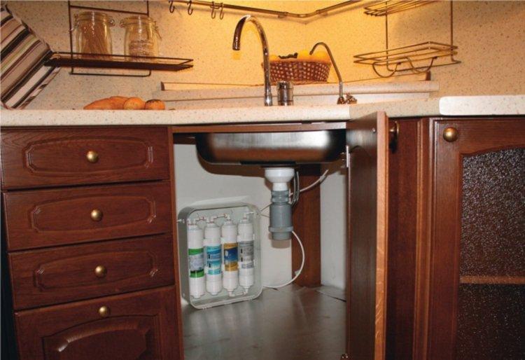 Смягчающие воду фильтры под мойку