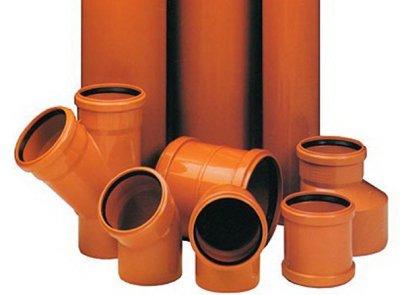 Трубы и фитинги из ПВХ для наружной канализации