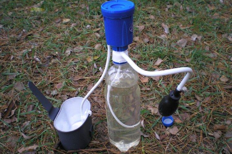 Вариант походного фильтра для воды