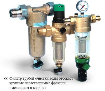 Виды и принцип действия фильтров грубой очистки воды для квартиры