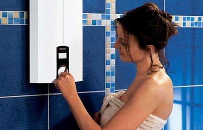 Как подключить накопительный бойлер к душу в бане?