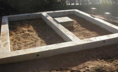 Обустройство грунта под баней в качестве места для слива воды